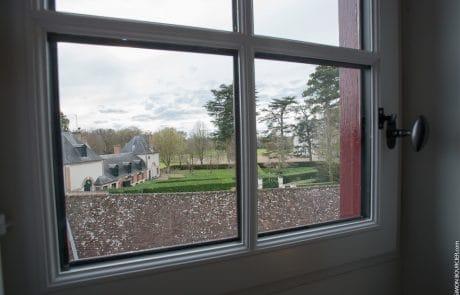 Vue sur le château de Cheverny depuis la Suite Elisabeth