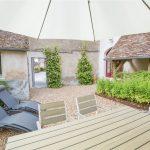 Cour et jardin privatifs des Suites de Cheverny