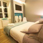 Chambre avec lit double de la Suite Marguerite